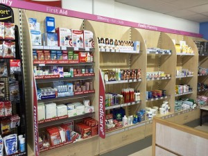 Miller's Pharmacy Waterford wall