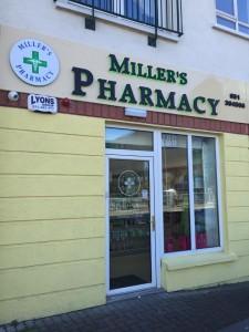 Miller's Pharmacy Waterford front door